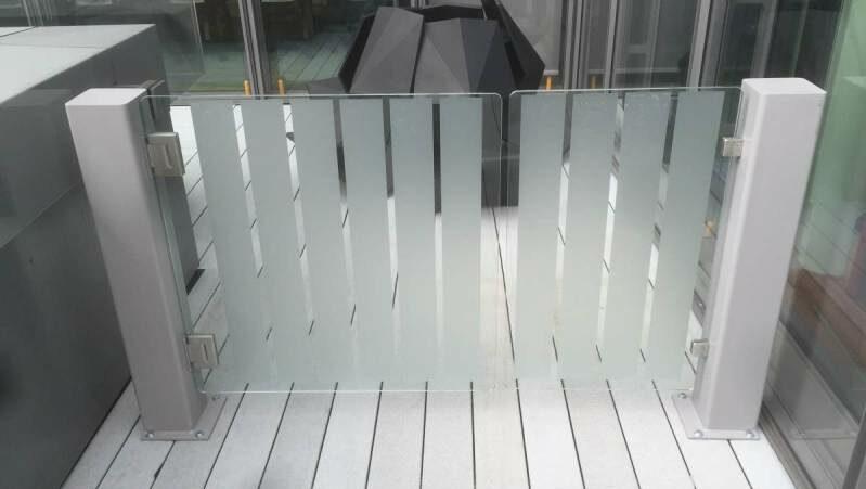 Glass pedestrian swing gate