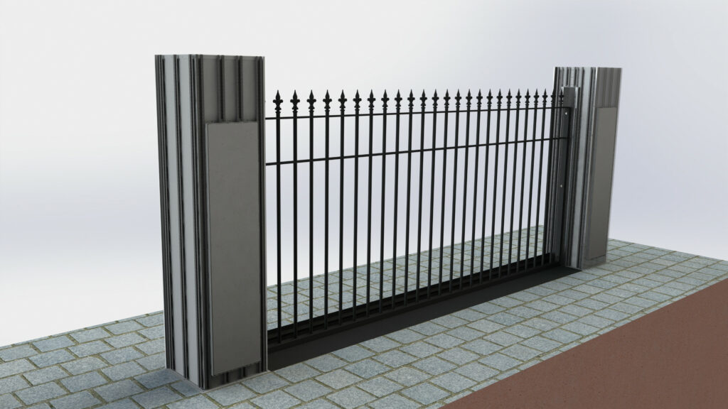 Rendering of automatic rising gate