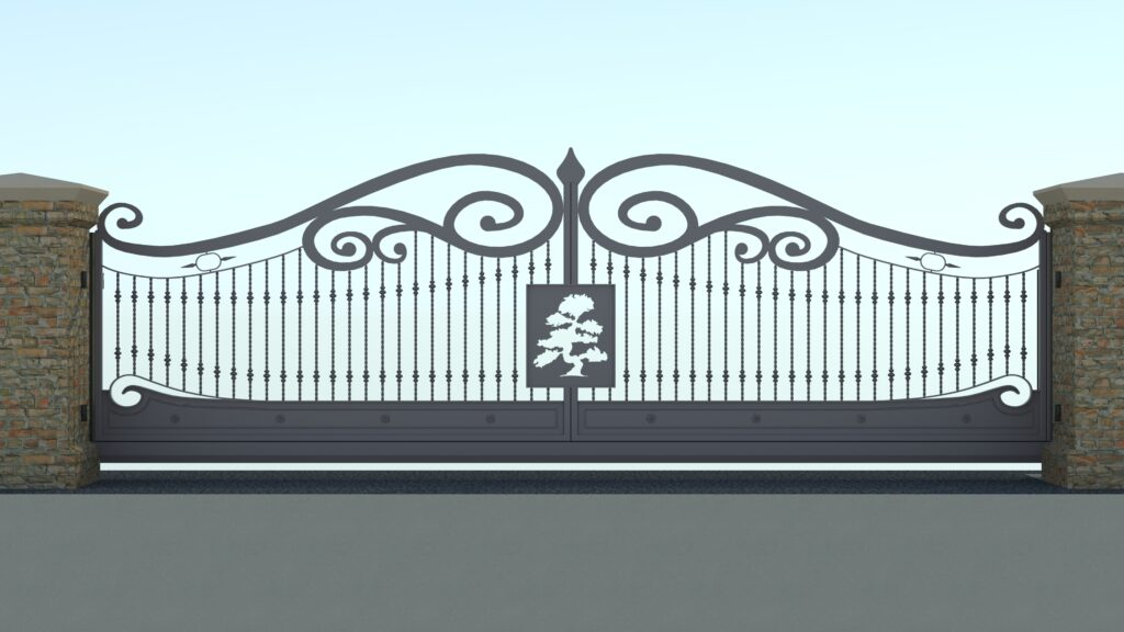 Rendering of automatic decorative gates