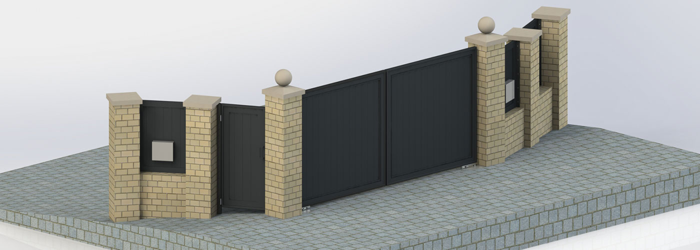 Rendering of automatic gates