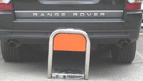 Solar powered parking bay barrier