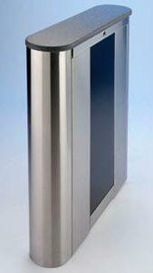 Optical turnstile with chrome effect finish