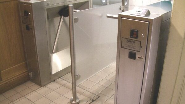 Coin operated turnstiles