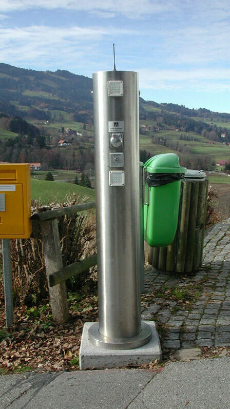 Stainless steel intercom post