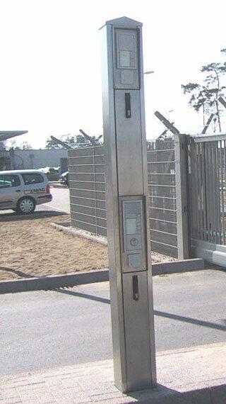 Custom designed intercom tower