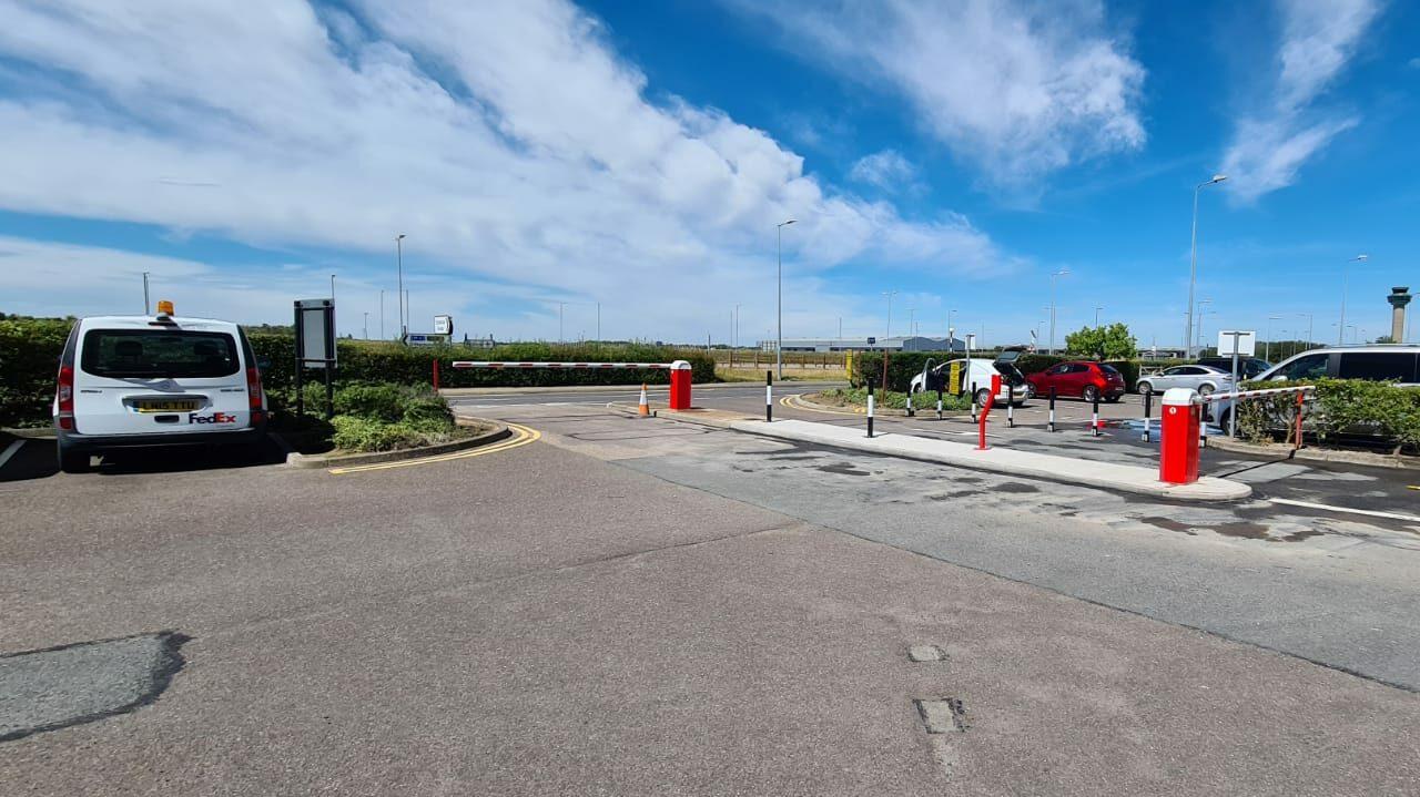 Automatic traffic barrier installation