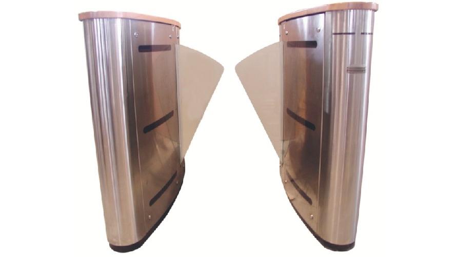 Aluminium speedgate turnstiles with indicator lights