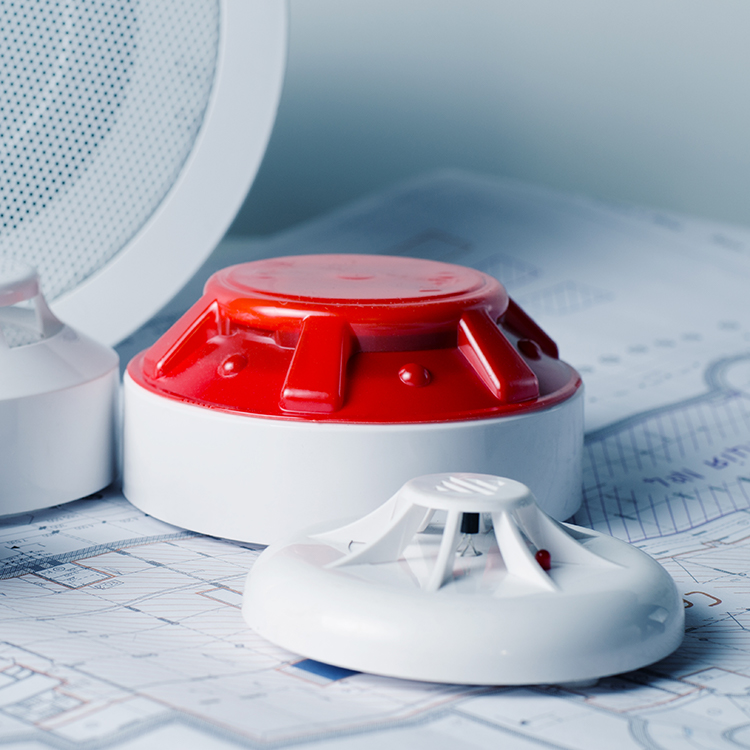 Photo of set of fire detectors