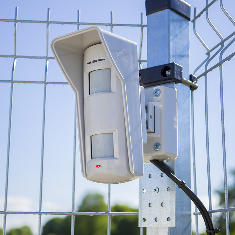 Photo of external infra-red detection system
