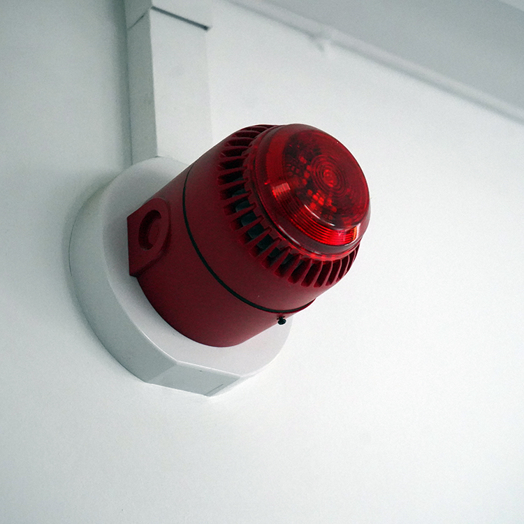 Photo of red fire warning light