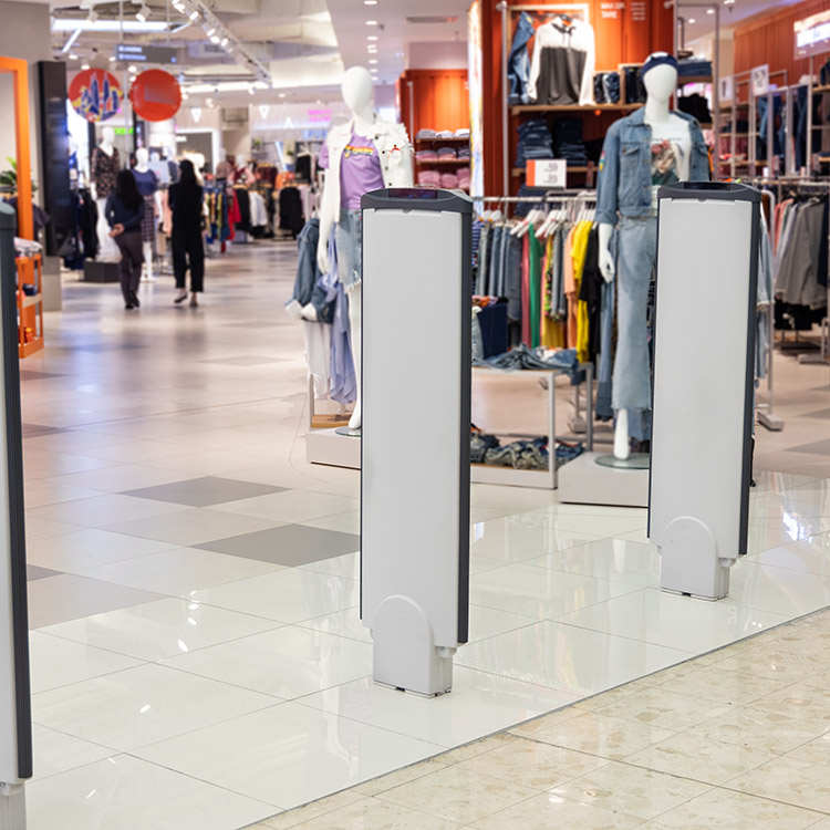 Photo of electronic article surveillance (EAS) detection barriers