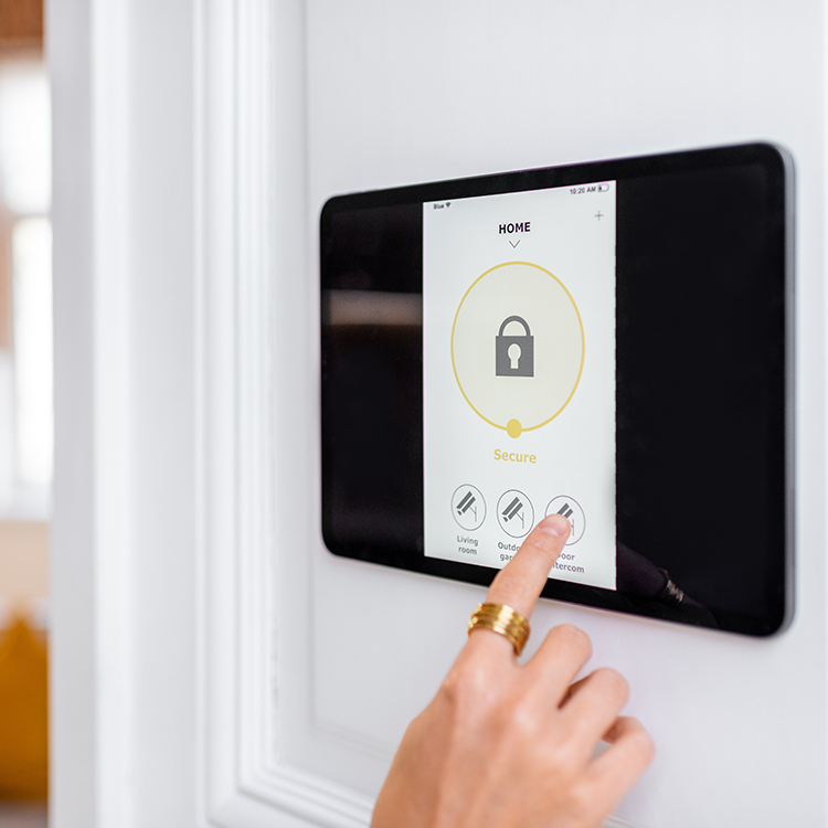 Photo of touch screen intruder alarm control system