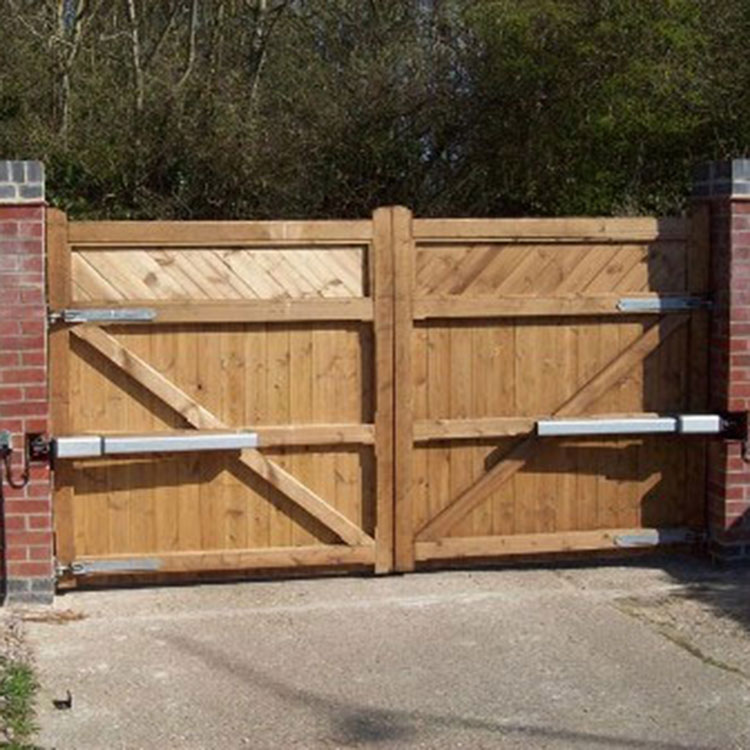 Automatic wooden gate control system