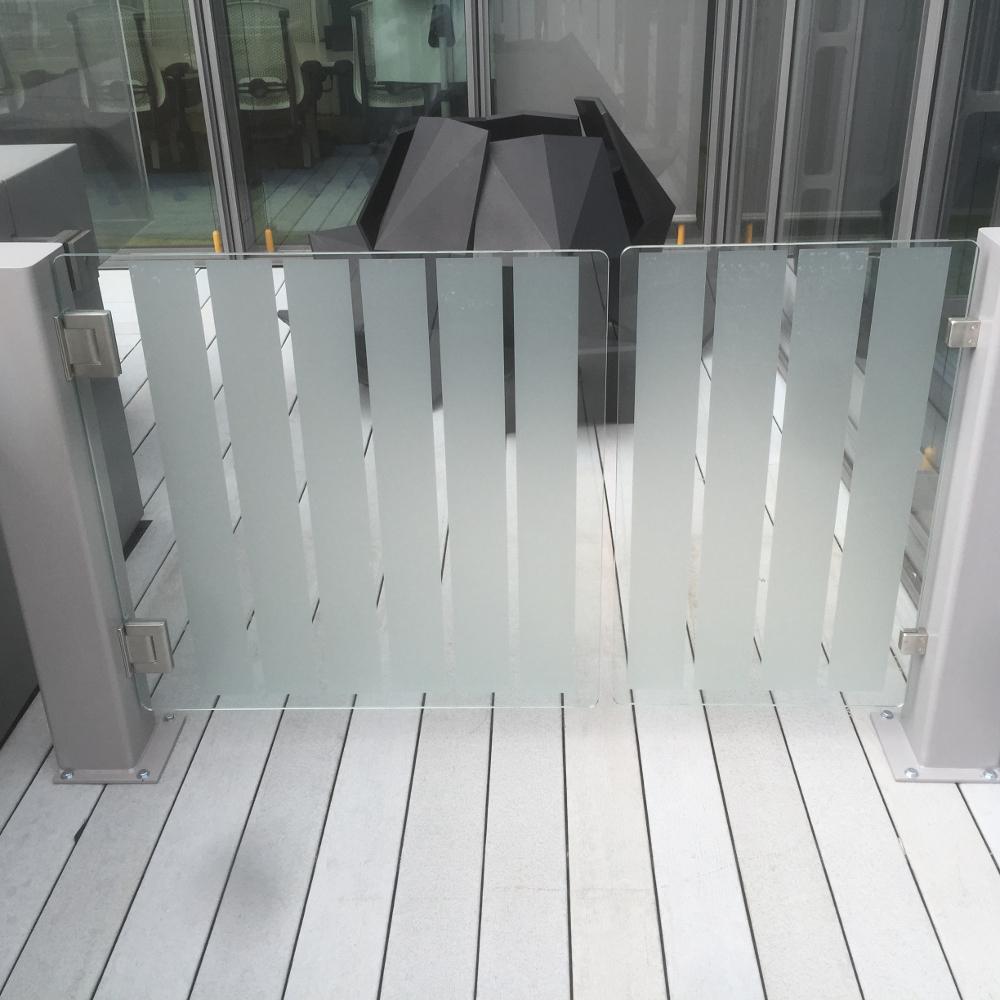 EDSUKBAP14 glass pedestrian swing gate