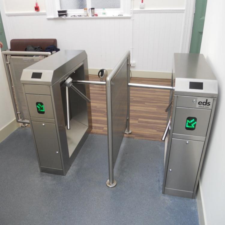 Photo of EDS UK half height turnstiles