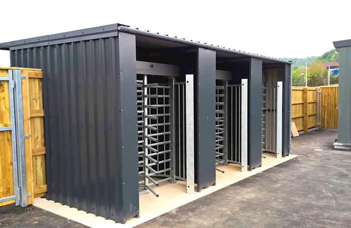 Full height stadium turnstiles at Scarborough FC