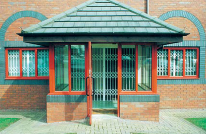 Office entrance grille