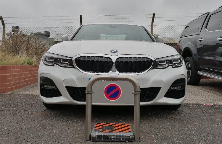 Remote control solar parking bay barrier