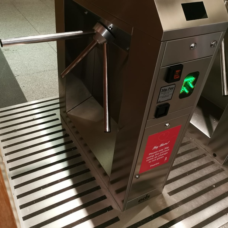 Photo of coin operated half height turnstile