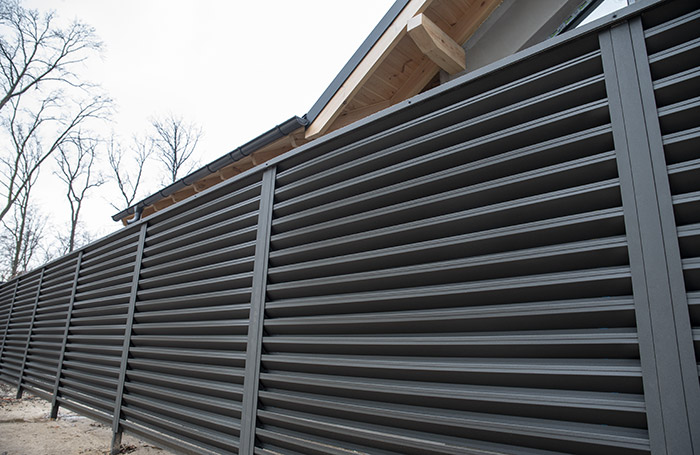 Photo of a louvered fence