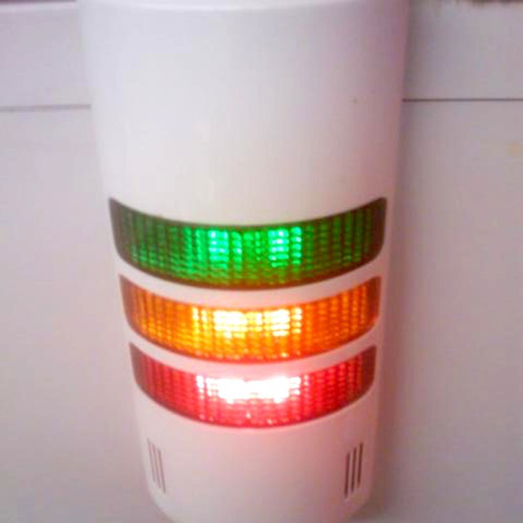 Traffic lights integrated into pole