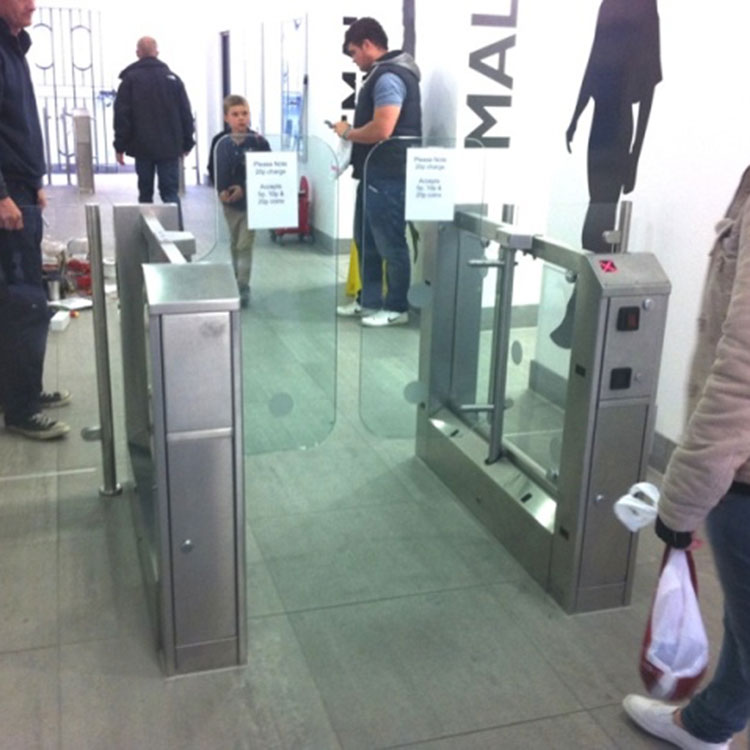 Coin operated glass turnstiles