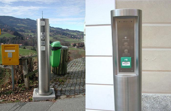Stainless steel intercom posts