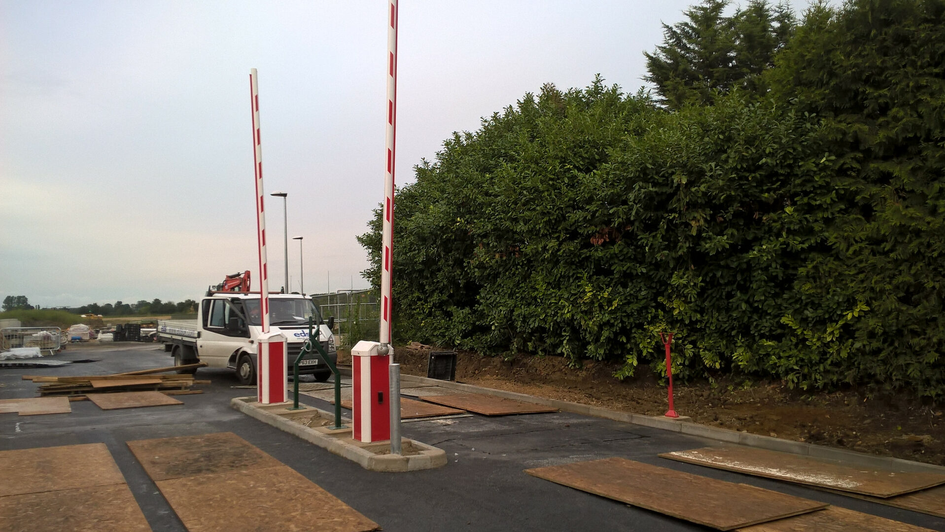 Installation of automatic rising boom traffic barriers