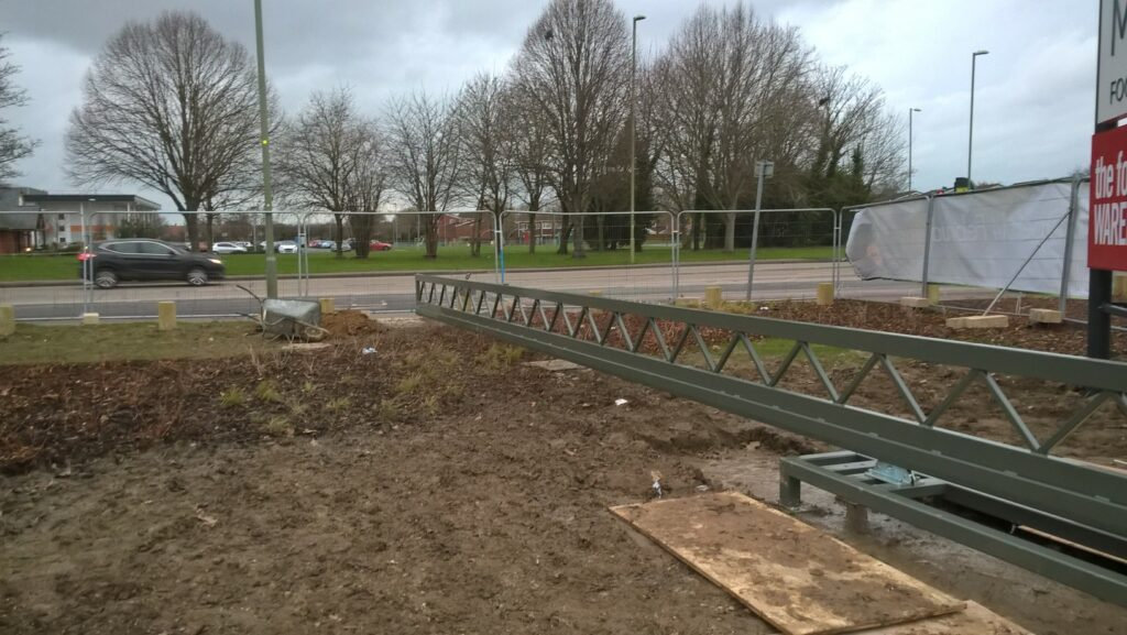 EDS UK automatic sliding barrier being installed