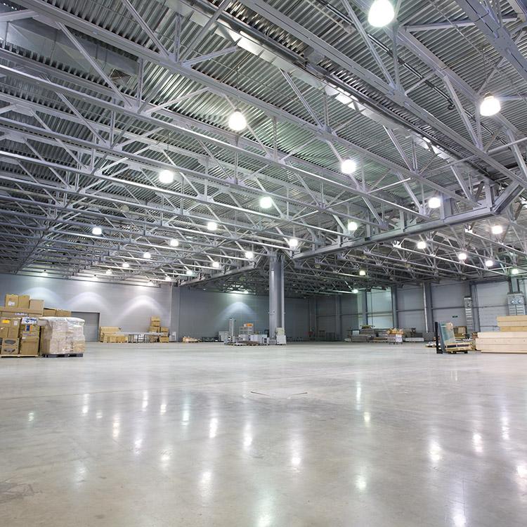 Photo of interior of Avison Young distribution depot