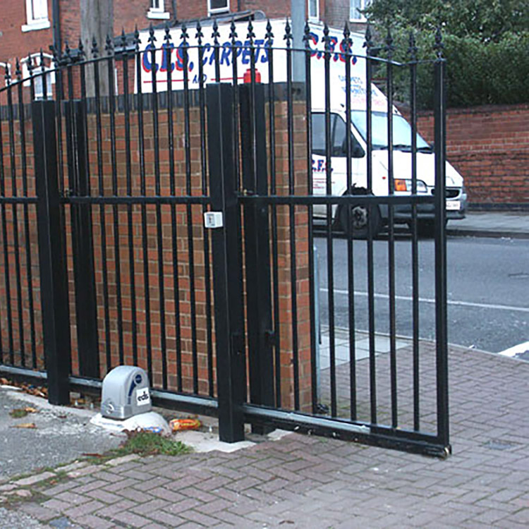 Automatic sliding gate installation at Fernley Medical Centre