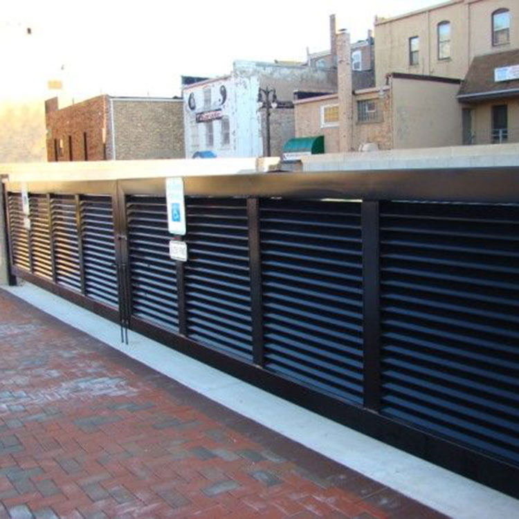 Louvered parking barrier
