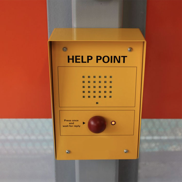 Car park intercom help point