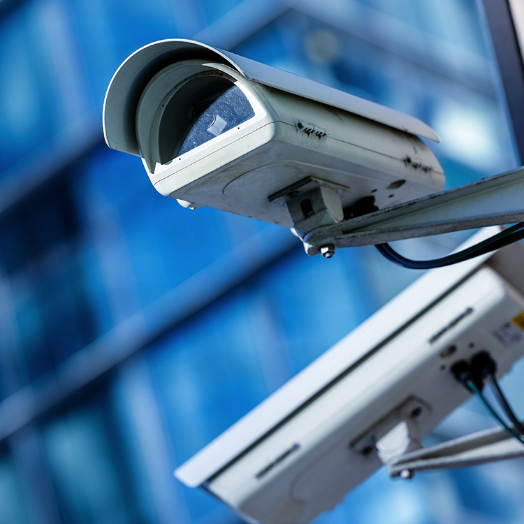 Photo of externally mounted CCTV camera