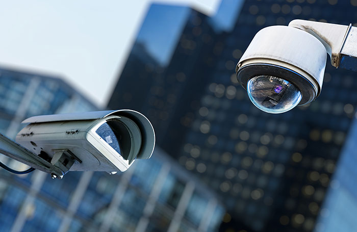 Photo of a pair of CCTV cameras mounted externally