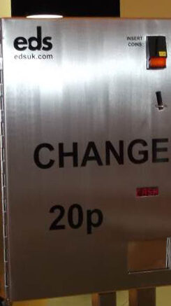 Stainless steel change machine