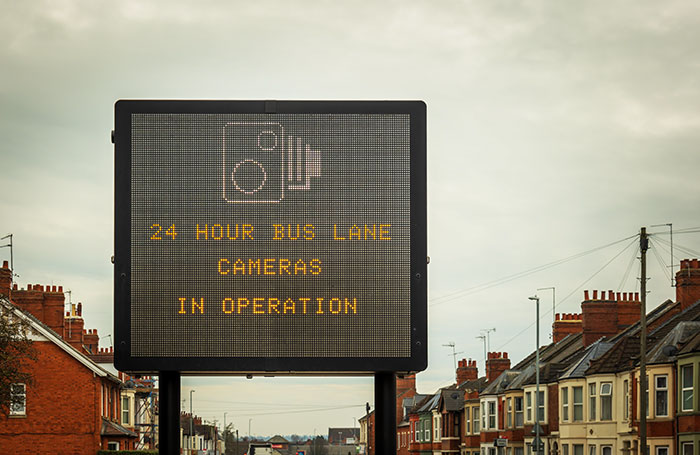 Large variable message road sign