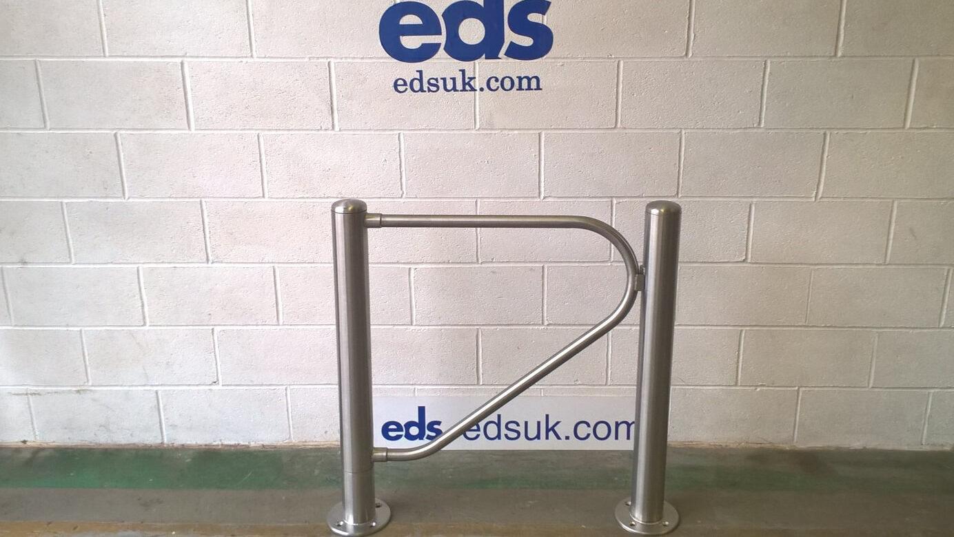 Stainless steel pedestrian barrier gate