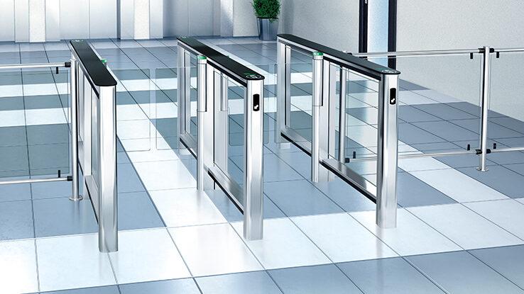 Glass speedgate turnstiles