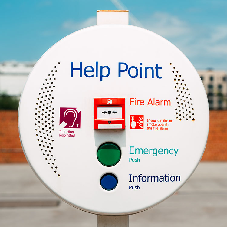 City centre emergency and information intercom point