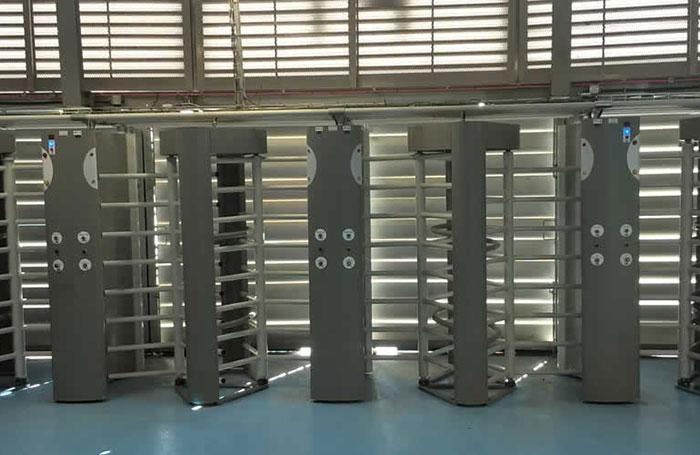Full height stadium turnstiles