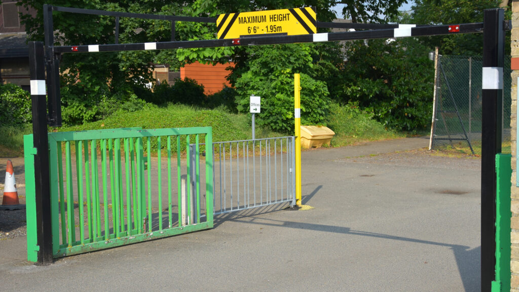 1.95 metre height restriction barrier
