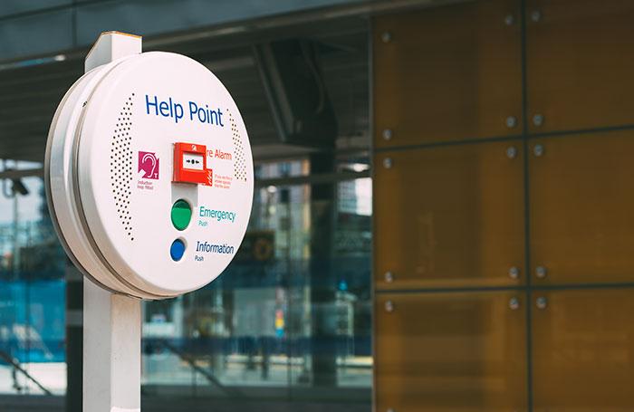 Town centre intercom help point