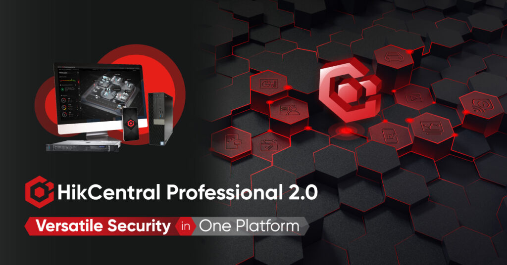 Graphic of HikCentral Professional CCTV control software