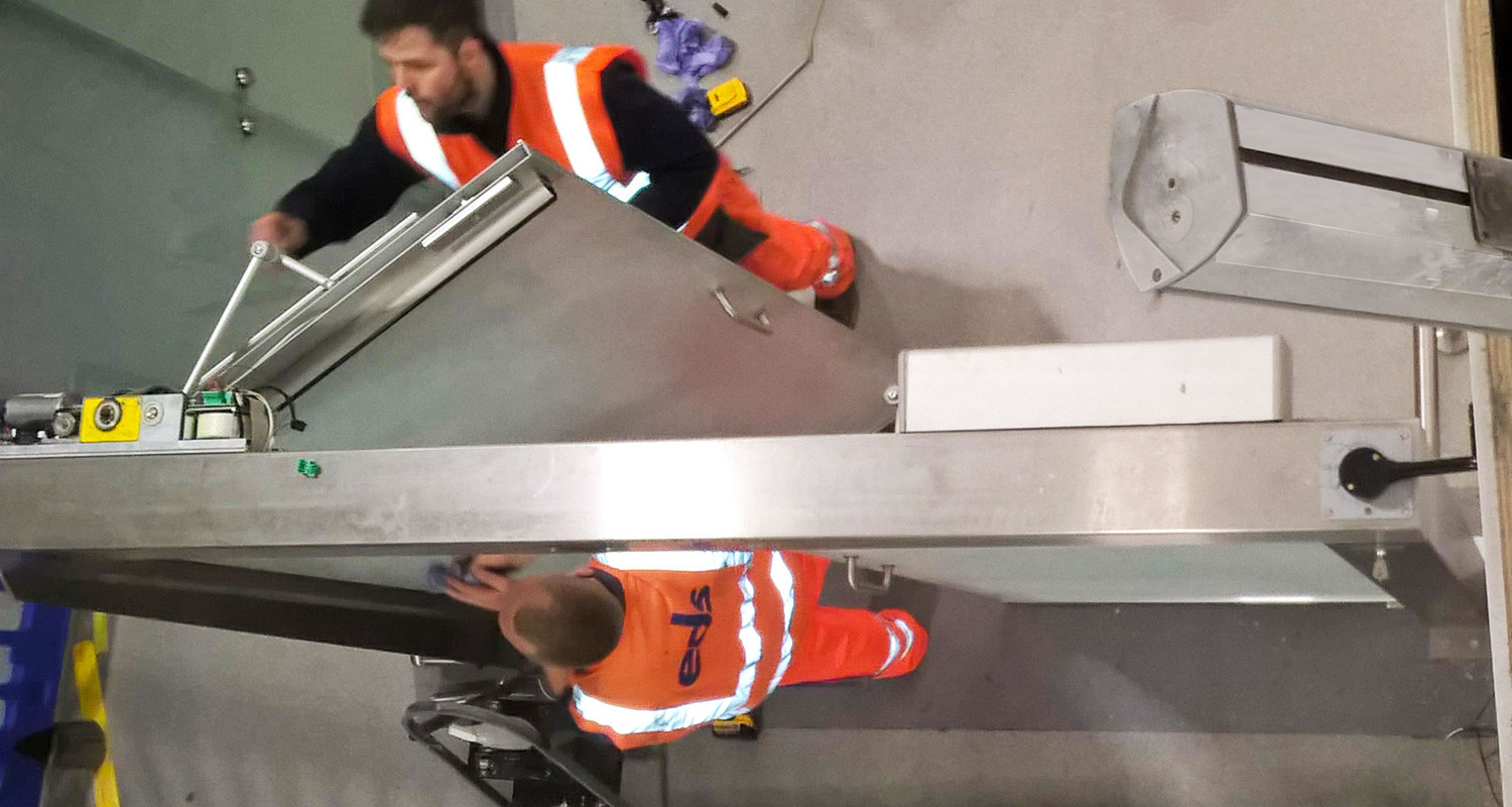 Installation of full height glass walling and gates at Gatwick Airport