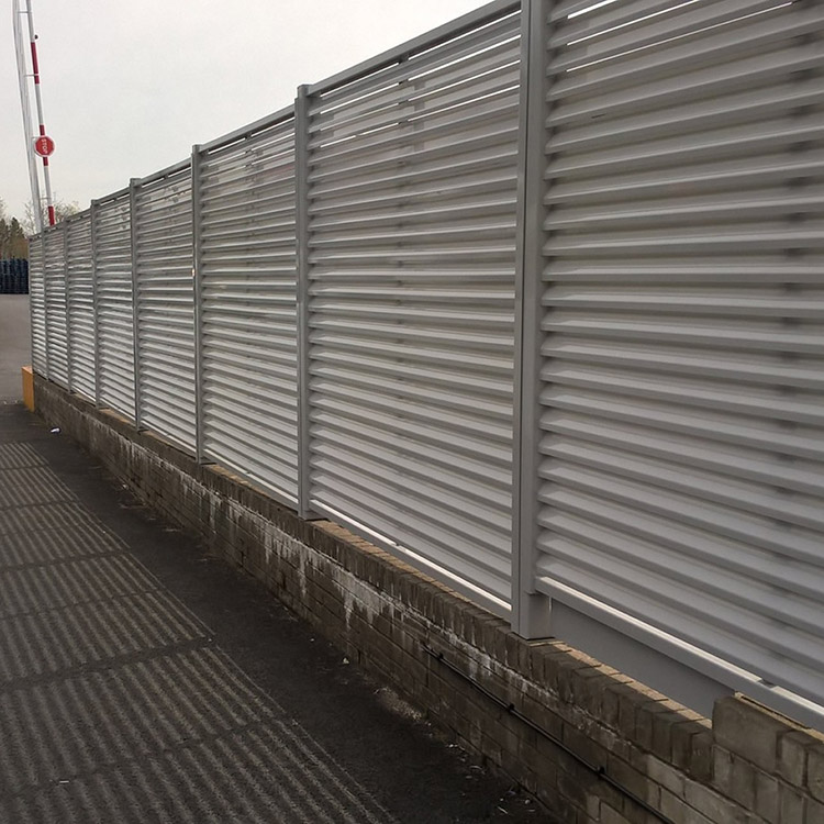 Photo of louvered fencing system