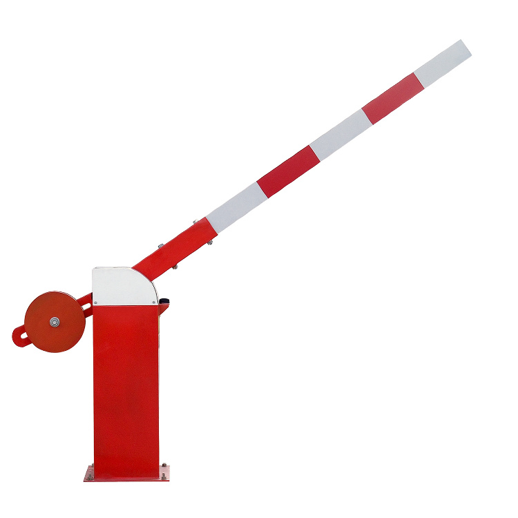 Manual barrier arm with adjustable counterweight