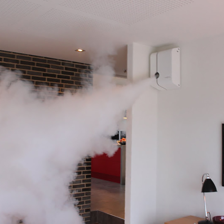 Photo of SmokeCloak device in action