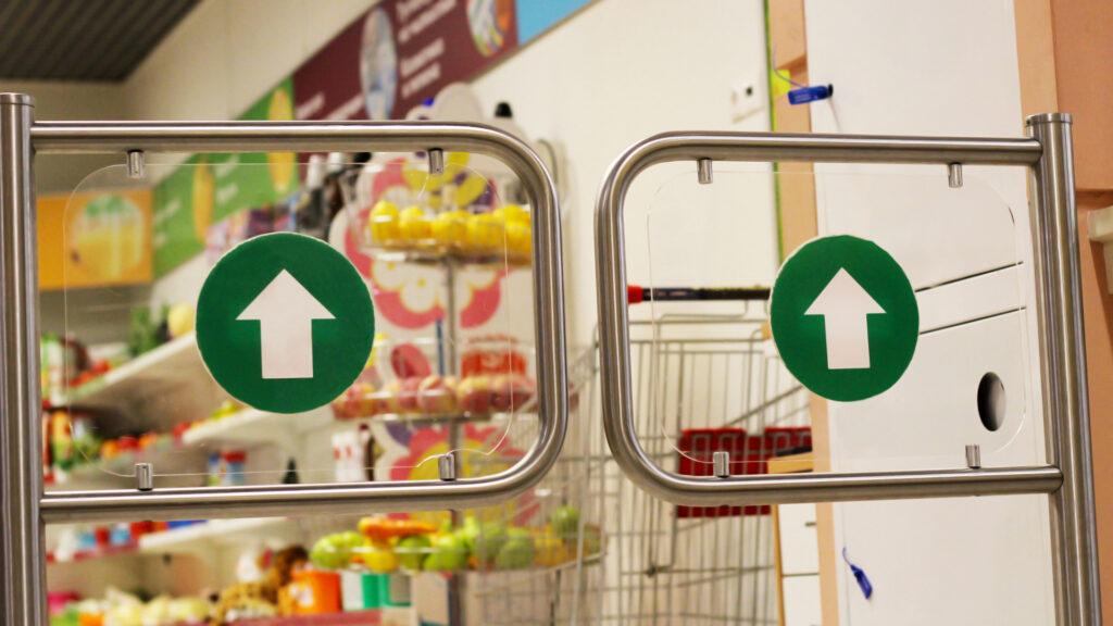 Supermarket style pedestrian access gates
