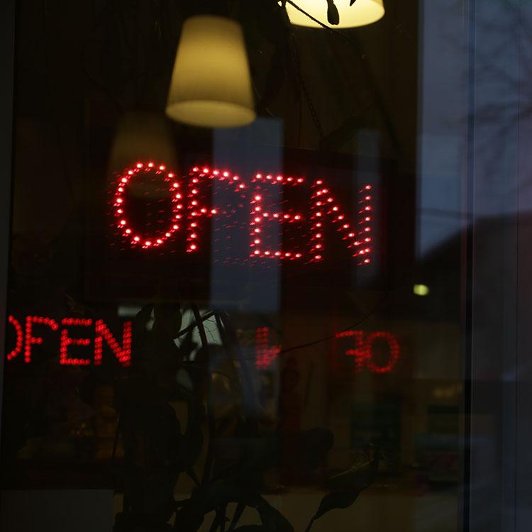 """Custom LED """"Open"""" sign"""